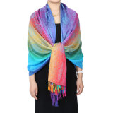 Fashion Pashmina Rainbow Soft女性覆いのスカーフ