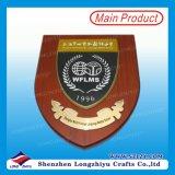 Plaque en bois en bois en métal de plaque de mur de Shiled