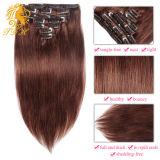 Clip en extensiones de color marrón 7 8 10 70 g 100 g Mejor 7A calidad 100% real Extensiones de cabello humano Remy unidades Humanos Clip de