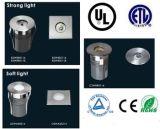 3 vatios 316 de luz subterráneo del acero inoxidable, luz del LED Inground