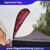 Кожаный защищая изготовленный на заказ напольное знамя пляжа, рекламируя знамя, знамя Teardrop