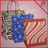 Sacs de papier estampés de cadeau de sacs à provisions de configurations