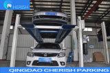 Elevatore idraulico di parcheggio dell'automobile dell'alberino automatico della serratura quattro