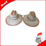 Chapéu de palha do Raffia do chapéu do papel do chapéu de palha do chapéu de Panamá