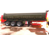 Tri-Axle 40-60ton сброса трейлера конца Tipper трейлер Semi