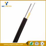1 cable de gota de fibra óptica autosuficiente de interior/al aire libre del hilado FTTH de Aramid de las fibras