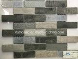 La más nueva tecnología que enclavija el azulejo de mosaico de cristal de madera gris