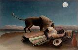 Pintura al óleo al por mayor de la decoración de la alta calidad, pintura casera de la decoración, pintura del arte (el gitano durmiente)