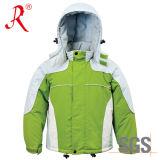 Nueva chaqueta de esquí impermeable diseñada de la alta calidad para los niños (QF-303)