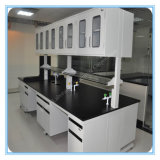 Tabella a resina epossidica bianca del laboratorio del calcolatore di biologia di Worktops