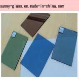 Cor-de-rosa de bronze do verde do cinza azul matizada de vidro
