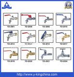 Válvula de ángulo Plumbling Brass control masculino plateado (YD-5035)