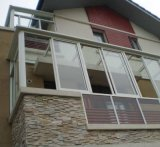 방수 방음 또는 주거 집을%s 젖빛 유리를 가진 PVC 슬라이딩 윈도우를 열 격리하십시오