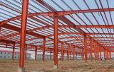 Almacén material de acero de la estructura de acero/taller simples del panel de emparedado y firmes