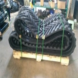 Trilha de borracha 450*110 *74V de Puyi para máquinas escavadoras de Yanmar