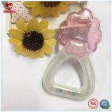 Água dobro Teether do bebê do chocalho das cores