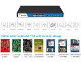 Zwei Kanäle Pri-E1/T1/J1 betteten SIP gegründetes System des Telefon-500 des Systems-VoIP PBX ein