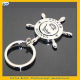 filatore turistico a forma di Keychain dell'anello portachiavi del timone dei ricordi del Messico Cancun del doppio dei lati 3D mini timone di rotazione