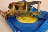 A catraca resistente do poliéster amarra para baixo a chicotada da carga da cinta