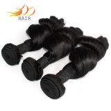 緩い波のRemyの人間の毛髪の織り方を編む加工されていないバージンのマレーシアの毛