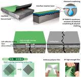 Membrana Waterproofing autoadesiva de estratificação transversal da película do HDPE para o jardim de telhado