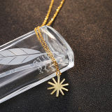 Manier 925 van vrouwen de Echte Zilveren zon-Gevormde Halsband van de Tegenhanger