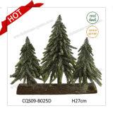 Decorazione esterna di tatto di H27cm di natale di plastica reale dell'albero di Natale