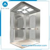 Cabina de oro del elevador del pasajero de la aguafuerte, diseño de la cabina de la elevación (OS41)