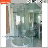 ホテルの浴室、シャワーの諸室戸スクリーン機構およびCe/SGCC/ISOのホームのための4-19mmのシルクスクリーンプリントかフロスティングまたは酸の腐食パターンおよび明確な安全ガラス