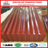 Prix en acier galvanisé enduit de feuille de toit de couleur rouge