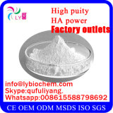 Poudre d'acide hyaluronique de pente/sodium cosmétiques purs Hyaluronate