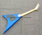 Guitare bleue du vol V d'arrière d'hirondelle de Tremolo de Floydrose d'étincelle métallique que toute la couleur reçoivent