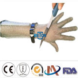 8cm, 15cm, 세륨을%s 가진 20cm Long Sleeve Chain Mail Gloves Stainless Steel Butcher Gloves