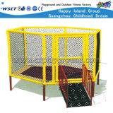 Retângulo ao ar livre Crianças Trampolim, com o gabinete (HD-15106)