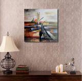 油絵の抽象的な景色