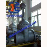 Soupape à vanne industrielle de bride de fer de Ductuile de cheminée d'élévation d'API/DIN/JIS