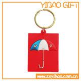 PVC de encargo Keychain del regalo del festival con la insignia personal (YB-PK-42)