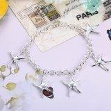 Neues Entwurffünf Starfish-Form-hängendes Armband-Silber überzogene Charme-Armband-Schmucksachen
