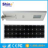 luz de calle solar integrada 80W con la salvaguardia de batería