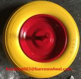 350-8一輪車のための車軸が付いているPUの泡の車輪
