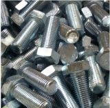 Head Hex Bolts DIN933 con Zinc Plated Carbon Steel