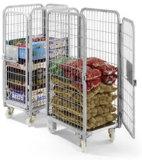 Depósito de almacenamiento plegable de metal Rollo de Seguridad de Contenedores