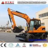 Nuevo excavador hidráulico para la venta, del excavador 12t 0.45cbm de la rueda excavador 4X4wd en Asia