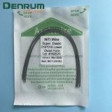 L'arco dentale di Niti dei fornitori di Denrum collega il rettangolo elettricamente ortodontico del collegare dell'arco di Niti