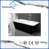 Vasca da bagno acrilica indipendente ovale di bordi neri (AB1505B)