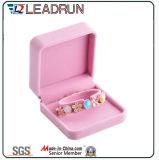 Кожаный коробка подарка упаковки Cufflink Bangle настоящего момента сувенира коробки хранения ювелирных изделий бархата (YLP131)