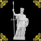 Hunan White Marble Warrior Statue