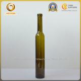 375m Bouteille en verre teinté vert foncé pour vin de glace (098)