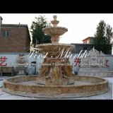 Garten-Marmorsteintravertin-Brunnen Mf-746