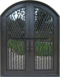 Portello di entrata standard di lusso della griglia del ferro dell'America con i disegni della finestra